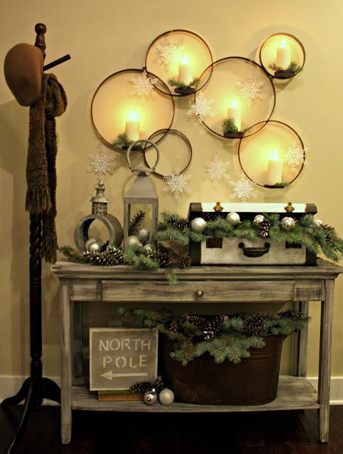 Wall Christmas Vignette