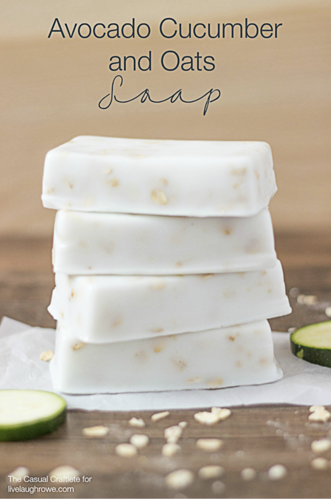 Avocado Cucumber and Oats Soap Recipe