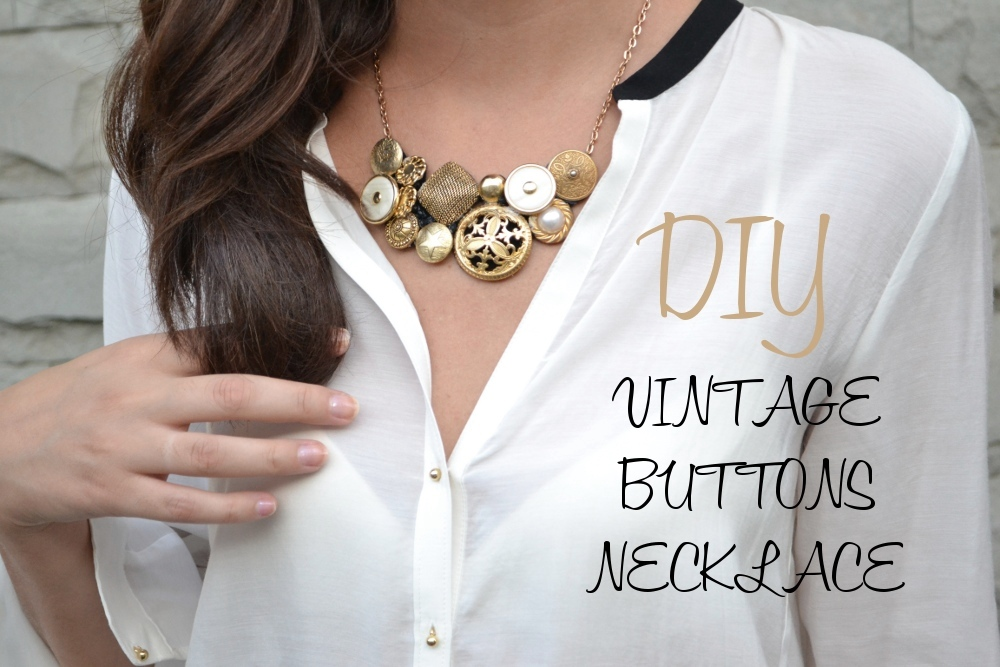 DIY – Vintage Buttons Necklace