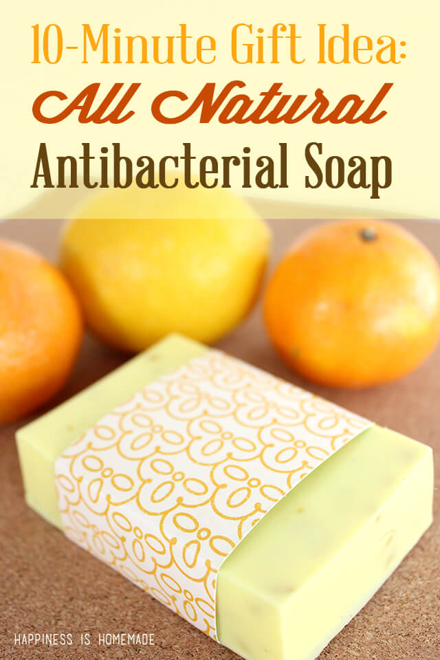 DIY Natural Citrus Antibacterial Soap
