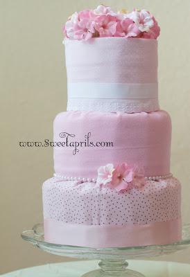 Fondant Style Diaper Cake