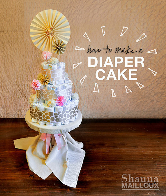 Baby Shower Gifts: 13 DIY Adorable Diaper Cake Ideas