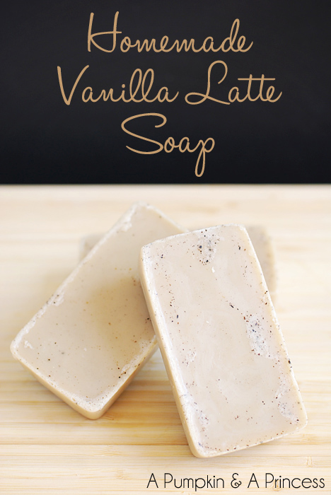 Homemade Vanilla Latte Soap Bars