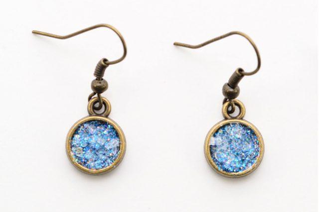 Sparkling Glitter Druzy Earrings