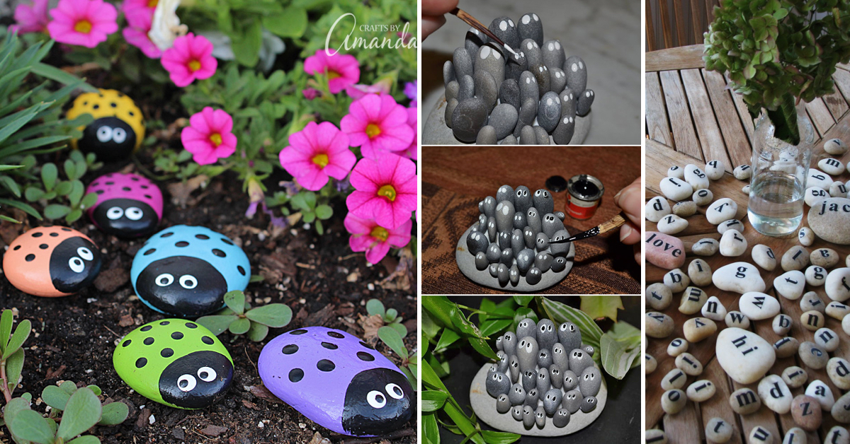 Best DIY Rock, Stone and Pebble Crafts Adding A Nautical ...