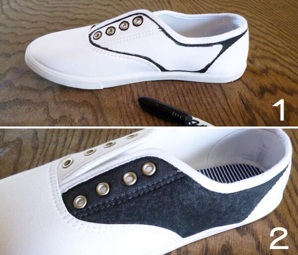 $5 Faux Saddle Shoes
