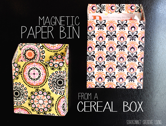 17 Must Try Cereal Box Crafts Ranging From Organizers To Table Top