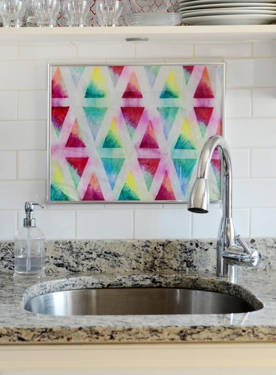 DIY Colorful Geometric Textiles