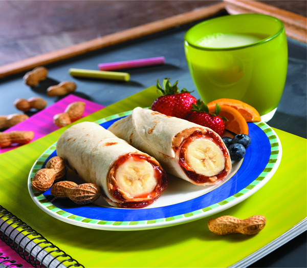 PB&J Banana Burritos