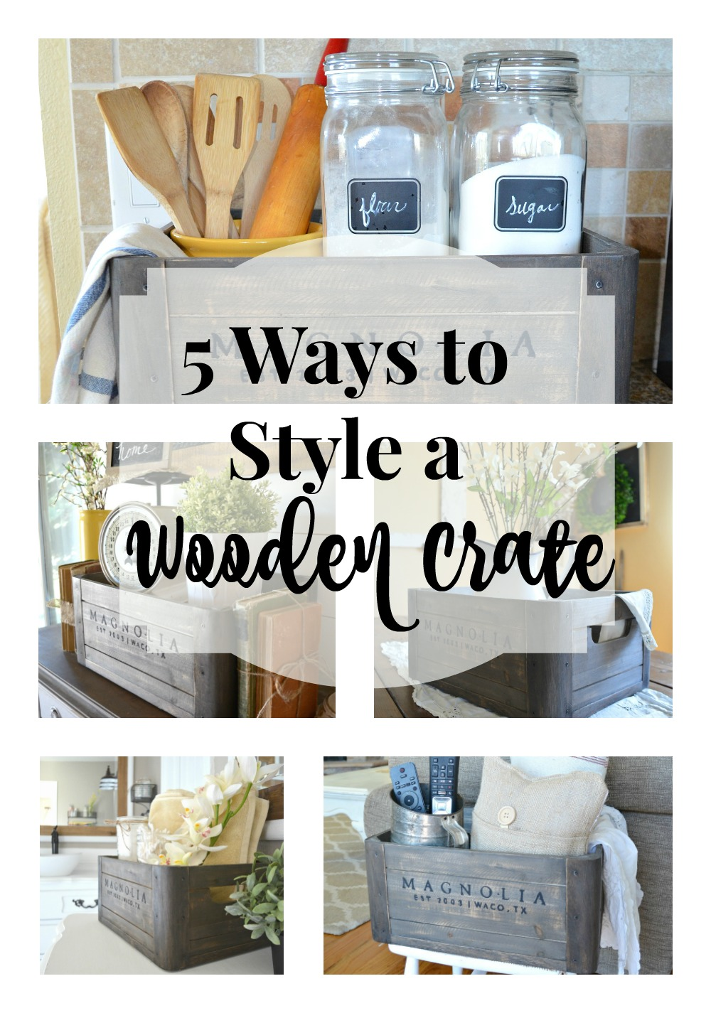 5 Ways to Style a Wooden Crate