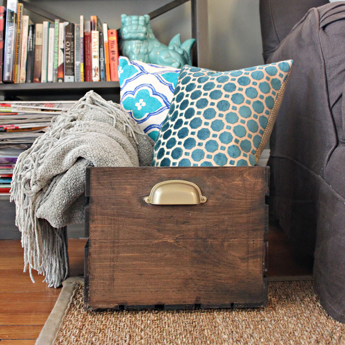 Customize a DIY Wooden Storage Crate