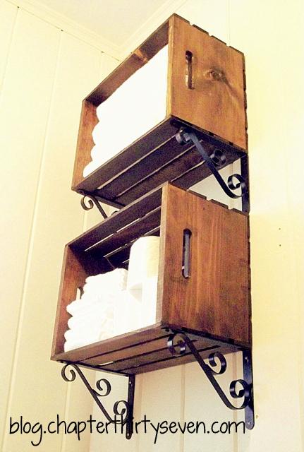 Wood Crate Vertical Storage