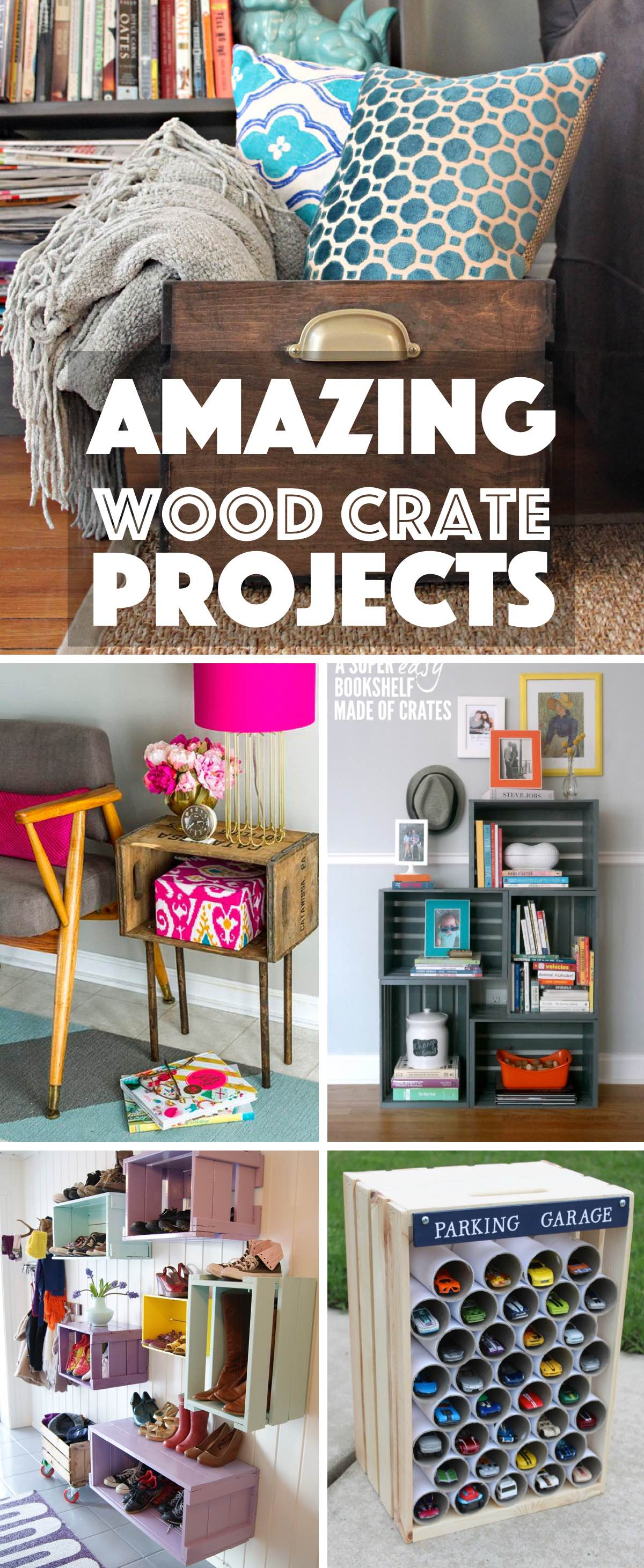 31 Amazing Wood Crate Projects That Range from Decor to Storage and More!