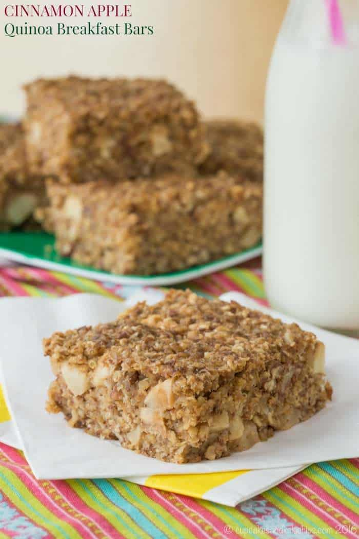 Cinnamon and Apple Quinoa Breakfast Bars