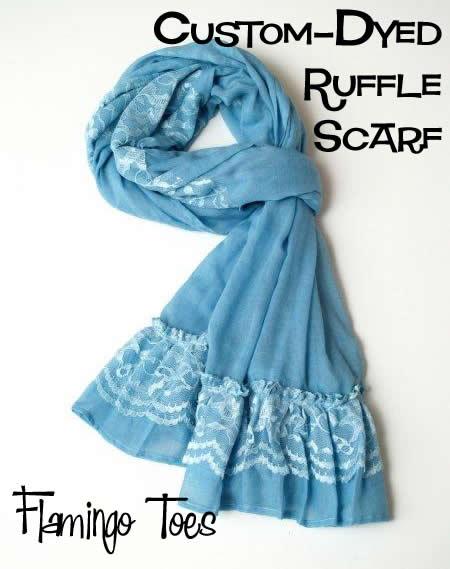 Custom Dyed Ruffle Scarf