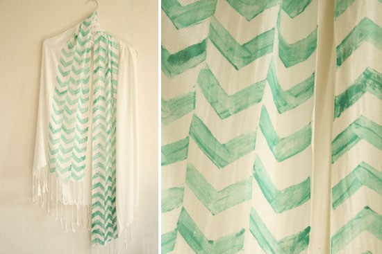 DIY Stamped Chevron Scarf