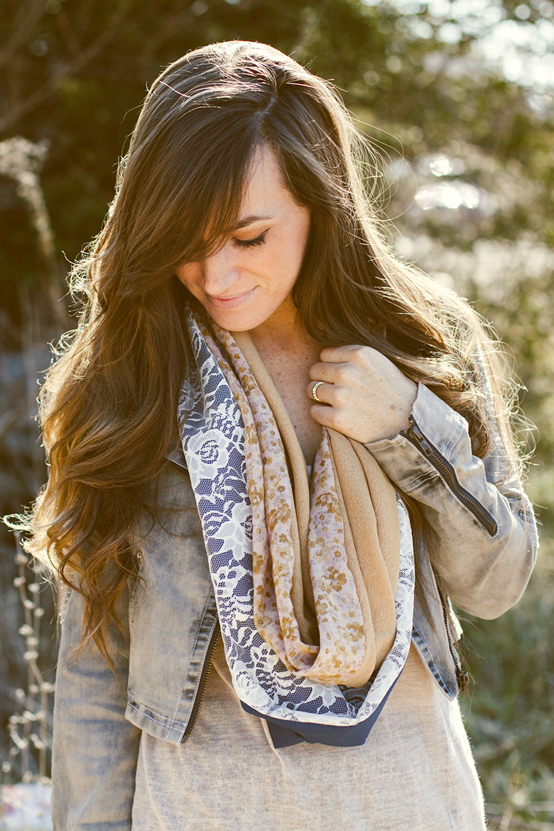 Four Piece Circle Scarf DIY