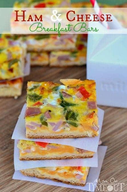 Ham and Cheese Breakfast Bars