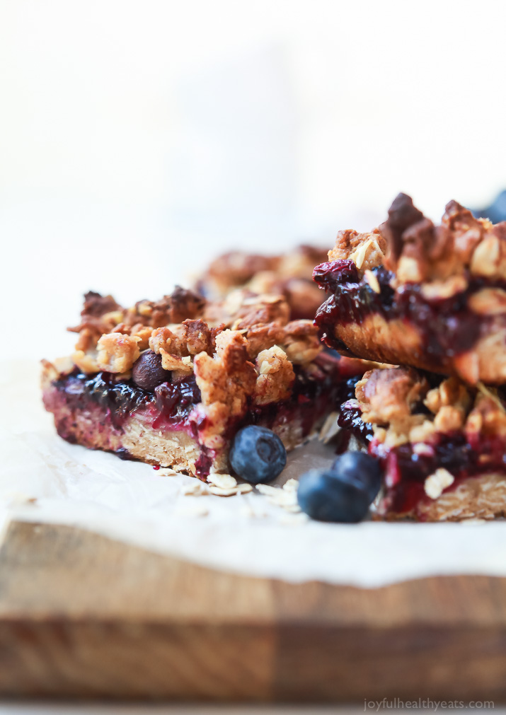 Lemon Blueberry Oatmeal Bars