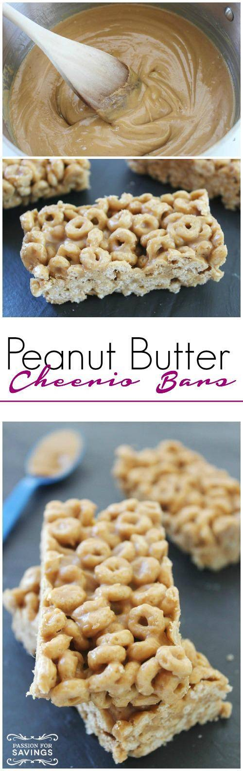 Peanut Butter Cheerio Bars Recipe