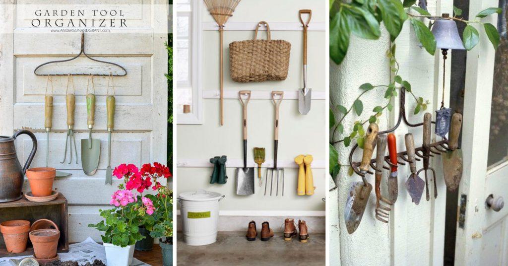 15 Garden Tool Storage Hacks-cover