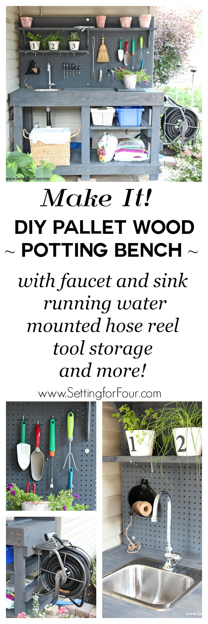 DIY Potting Bench with Sink