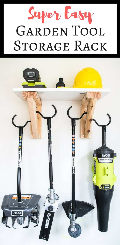 Easy DIY Garden Tool Storage Rack