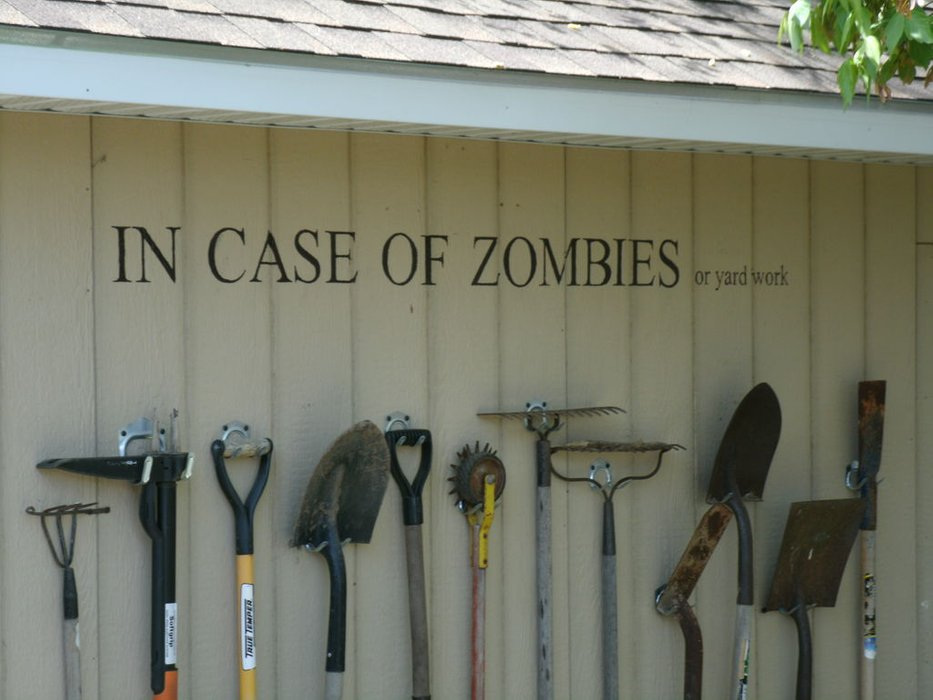 Storing Garden Tools with Style Aka Zombie Wall