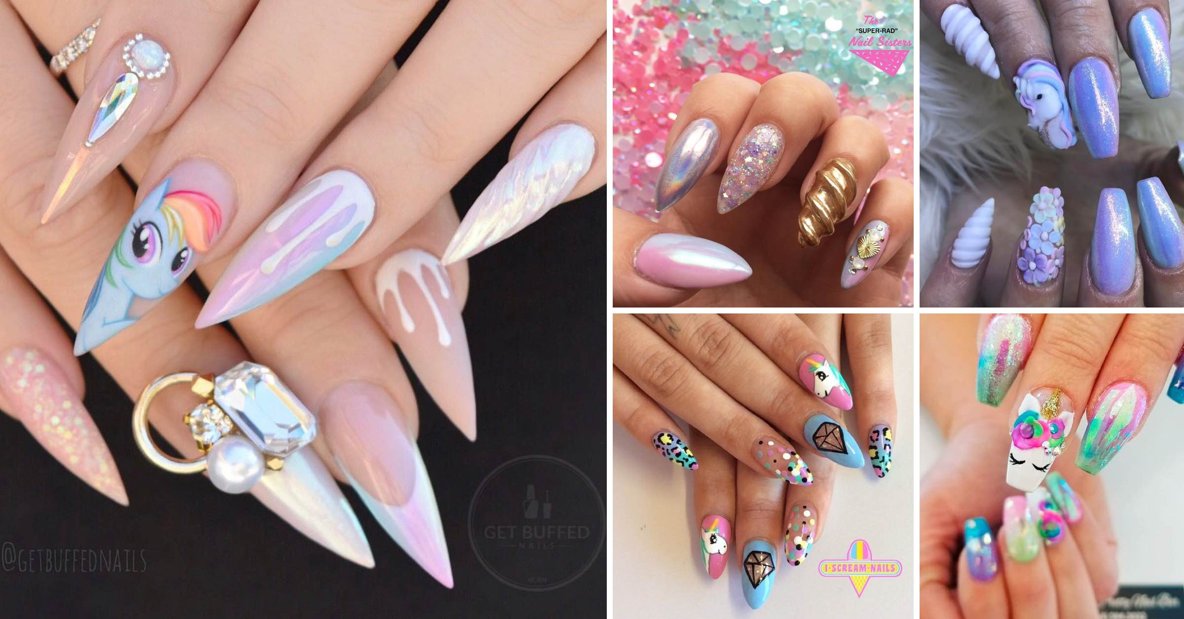 25 Mystical Unicorn Nail Designs Taking you to a Land of Fantasy ...