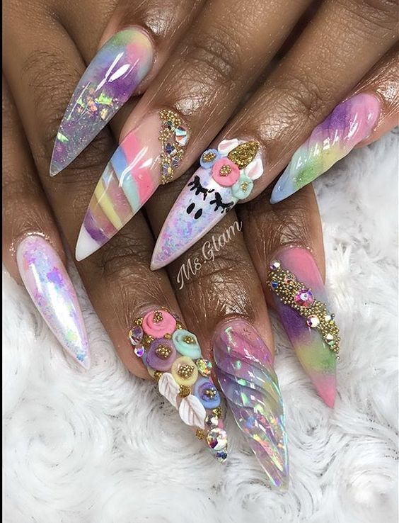 25 Mystical Unicorn Nail Designs Taking you to a Land of