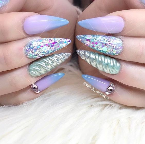 Unicorn Horn Accent Nail