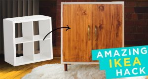 Transform an Ikea Kallax into a Rustic Mid-Century Style Shelving Unit-cover