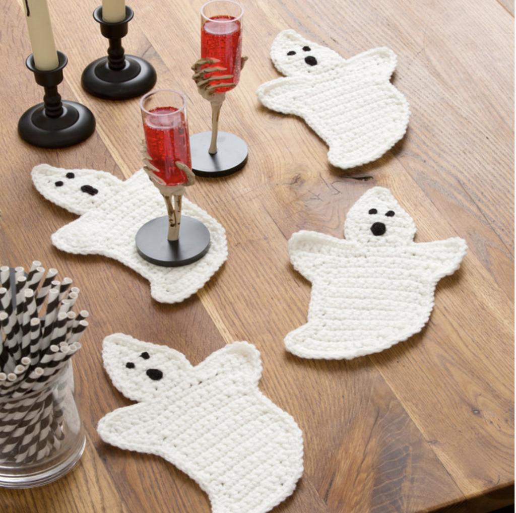Crochet Ghost Coasters