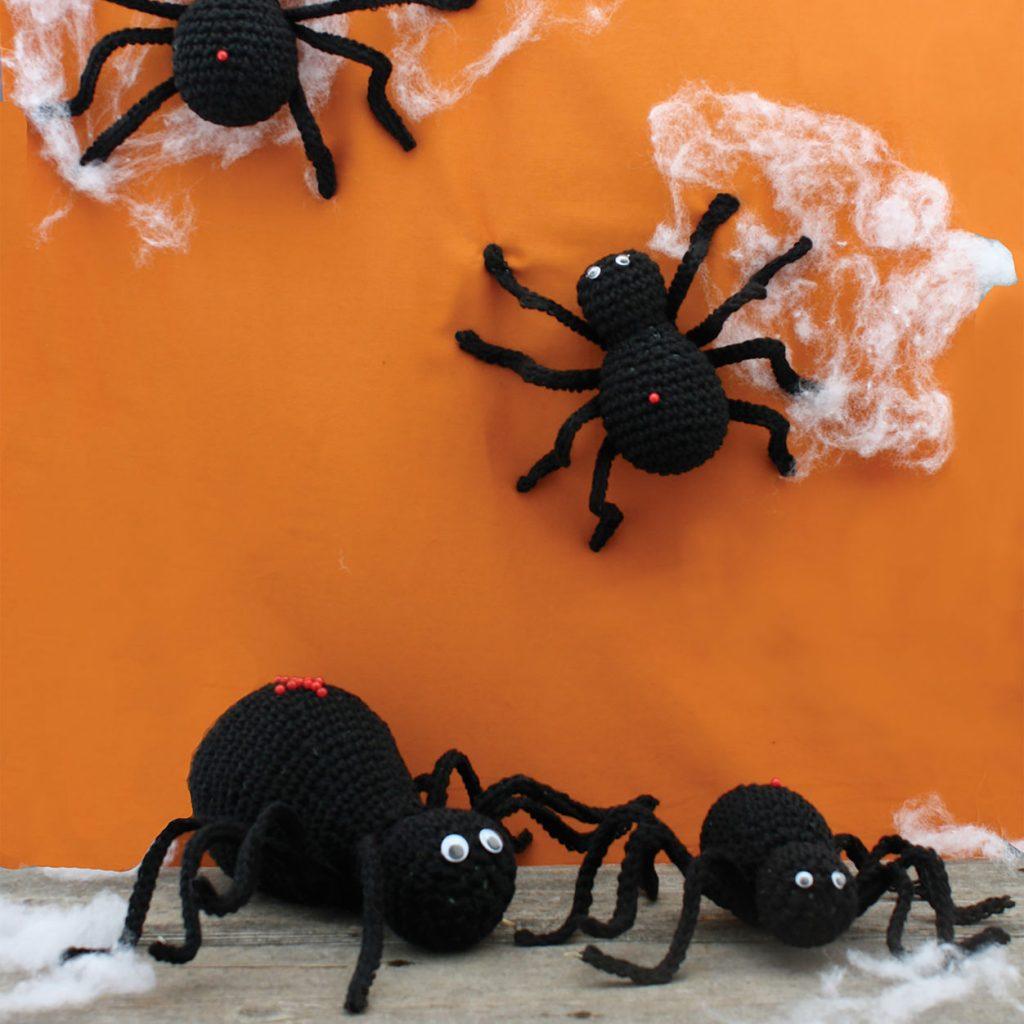 Crochet Halloween Spiders