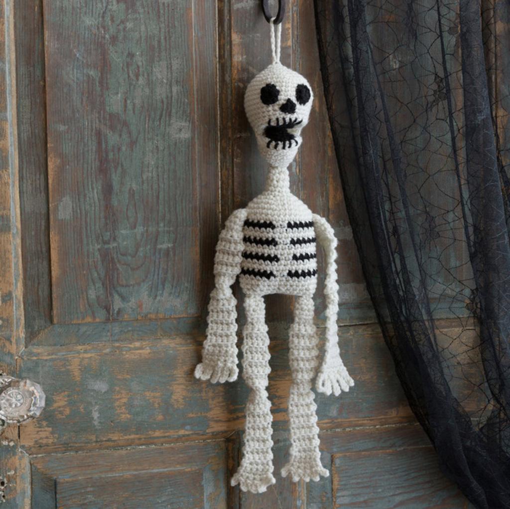 Hanging Crochet Skeleton