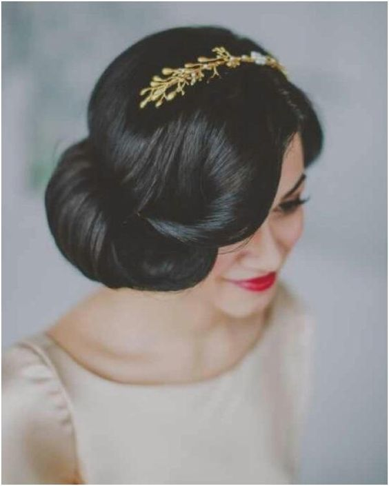 Romantic Low Bun Wedding Hairstyle