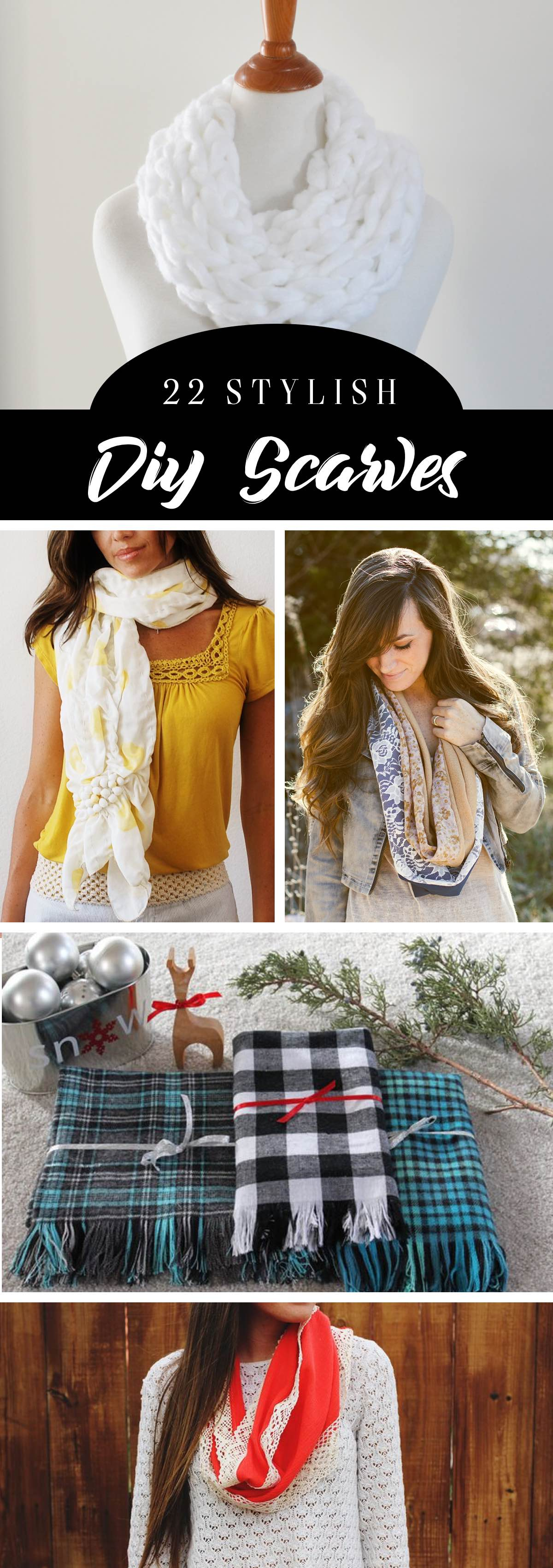 22 Stylish DIY Scarves To Stay Cozier and Make a Statement At the Same Time!