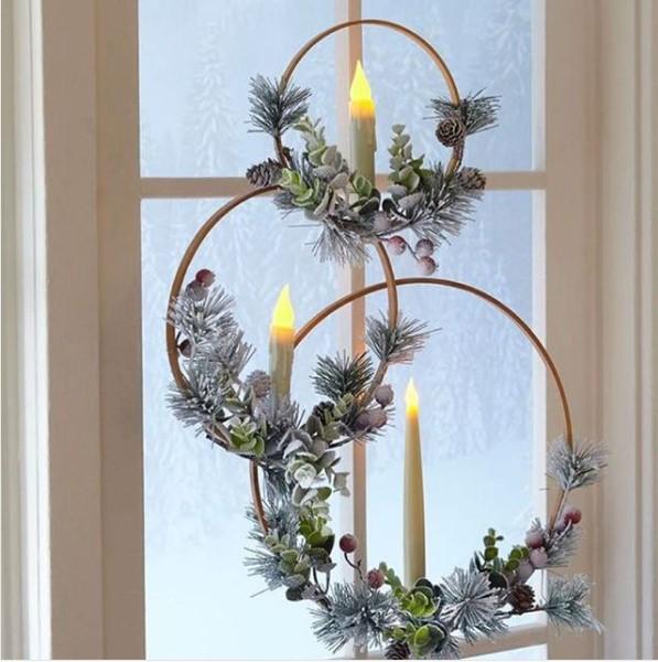 Wood Loop Candles