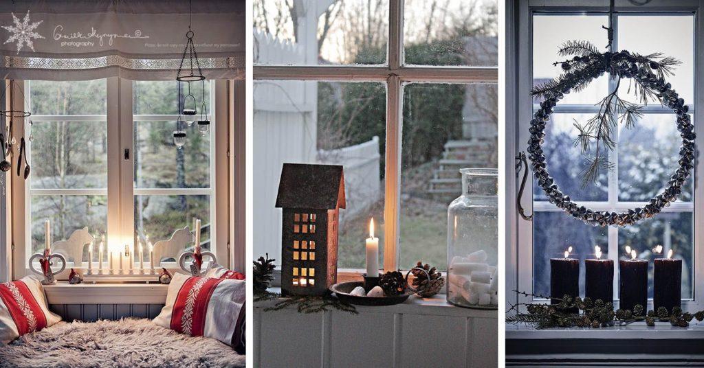 Lovely Christmas Window Decor Ideas