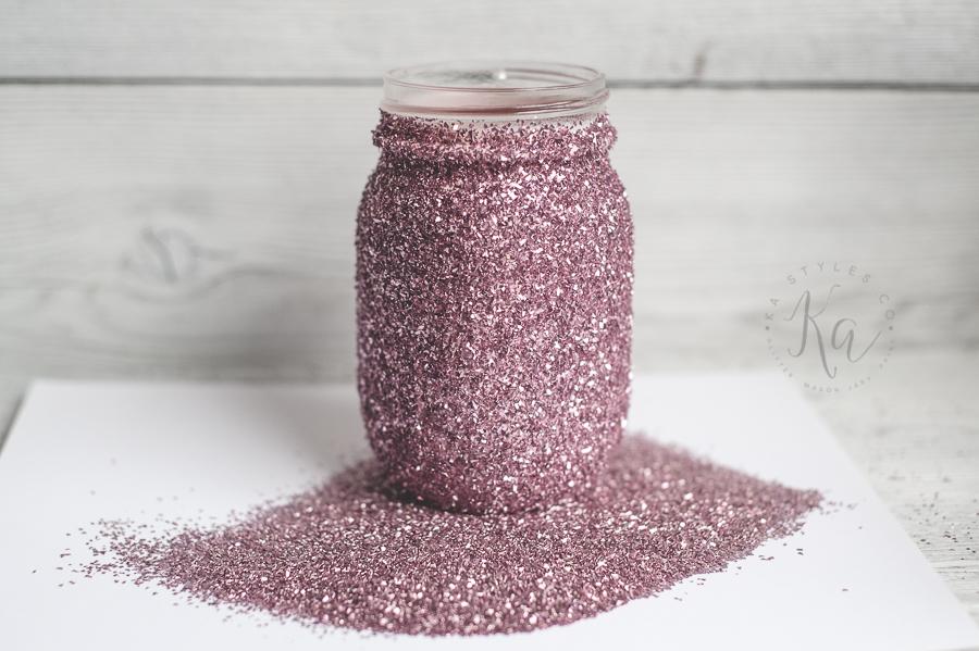 DIY Glitter Mason Jar