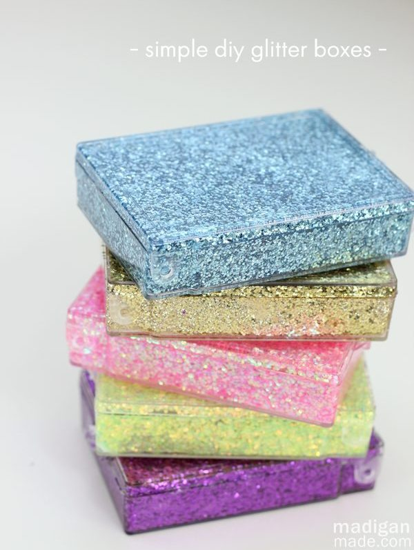 Plastic Containers Into Sparkly Storage