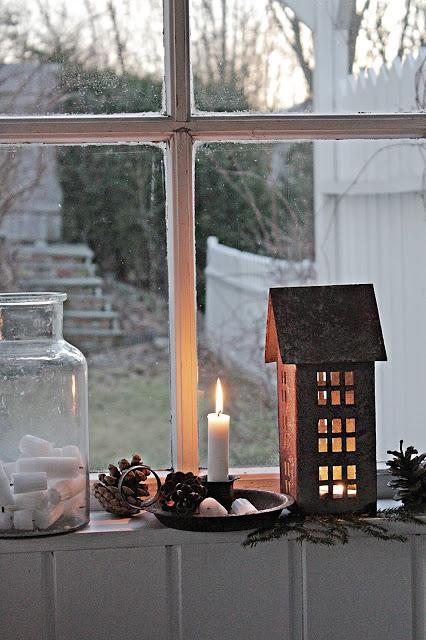Winter Hut and Glow