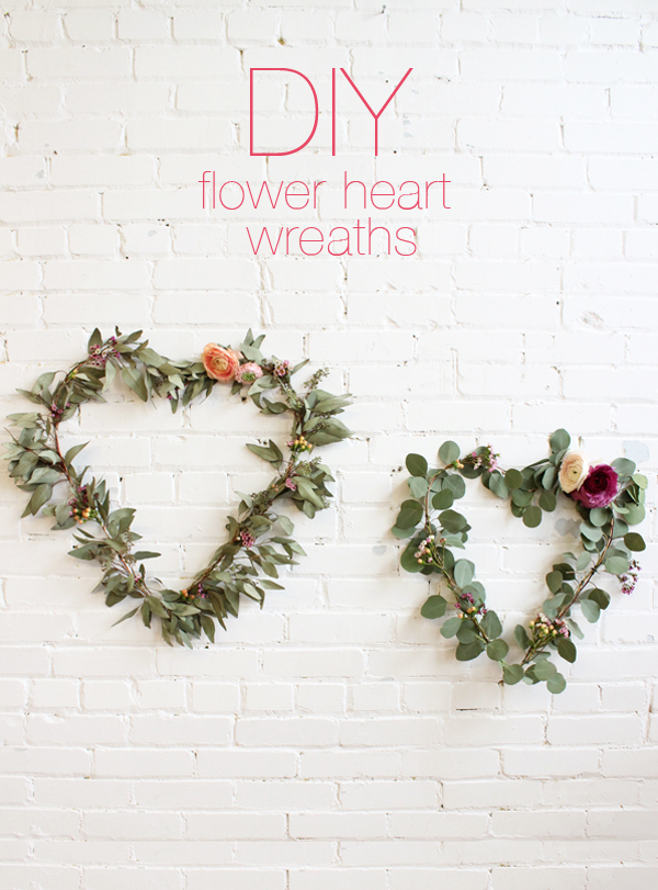 DIY Flower Heart Wreath