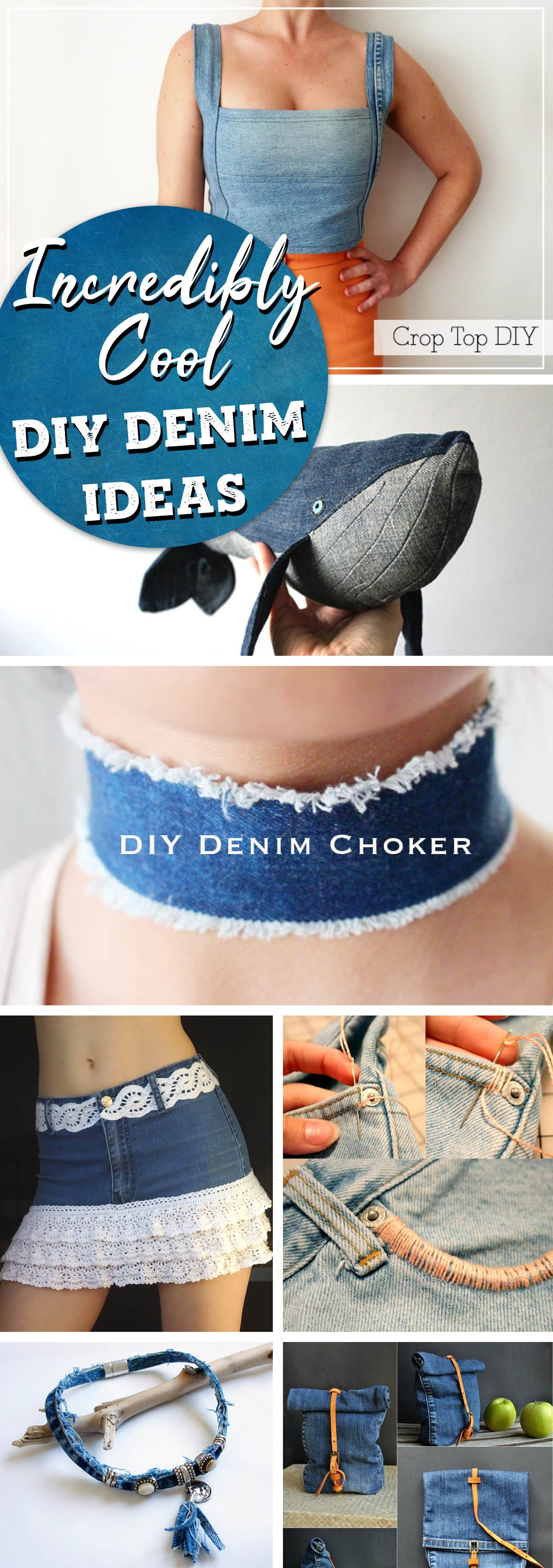 22 Incredibly Cool DIY Denim Ideas Ranging from Organization to Accessories!
