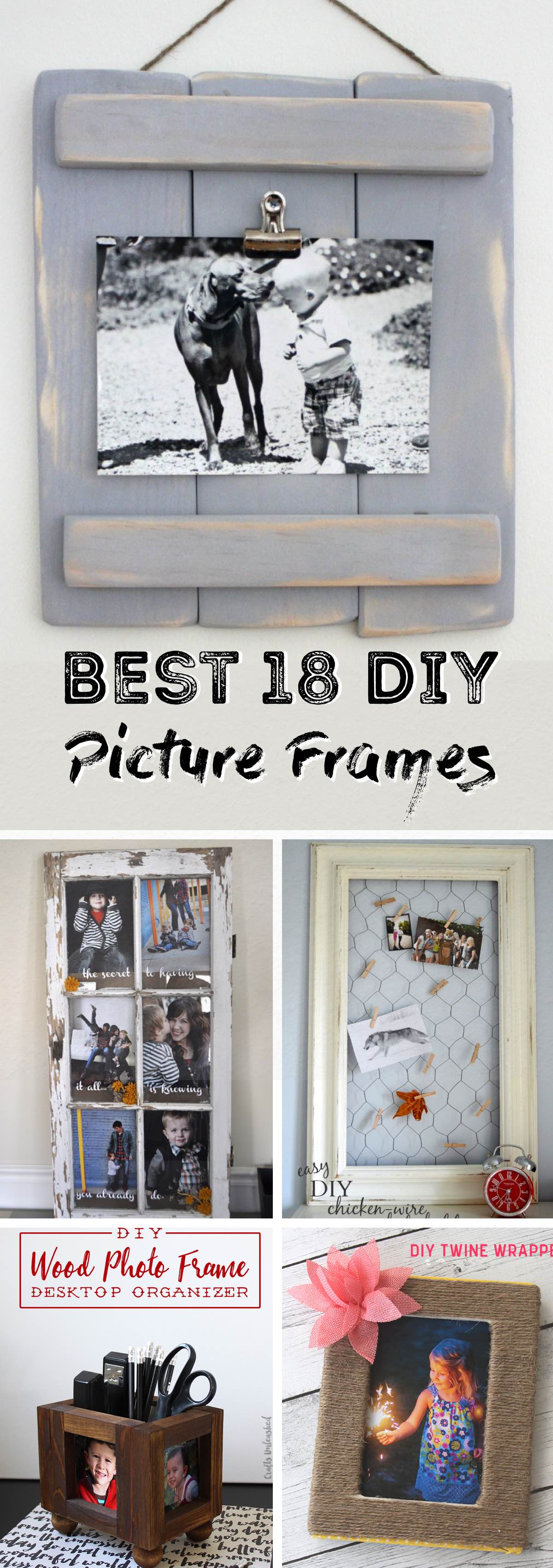 18 DIY Picture Frames Displaying Your Photos with Utmost Beauty!