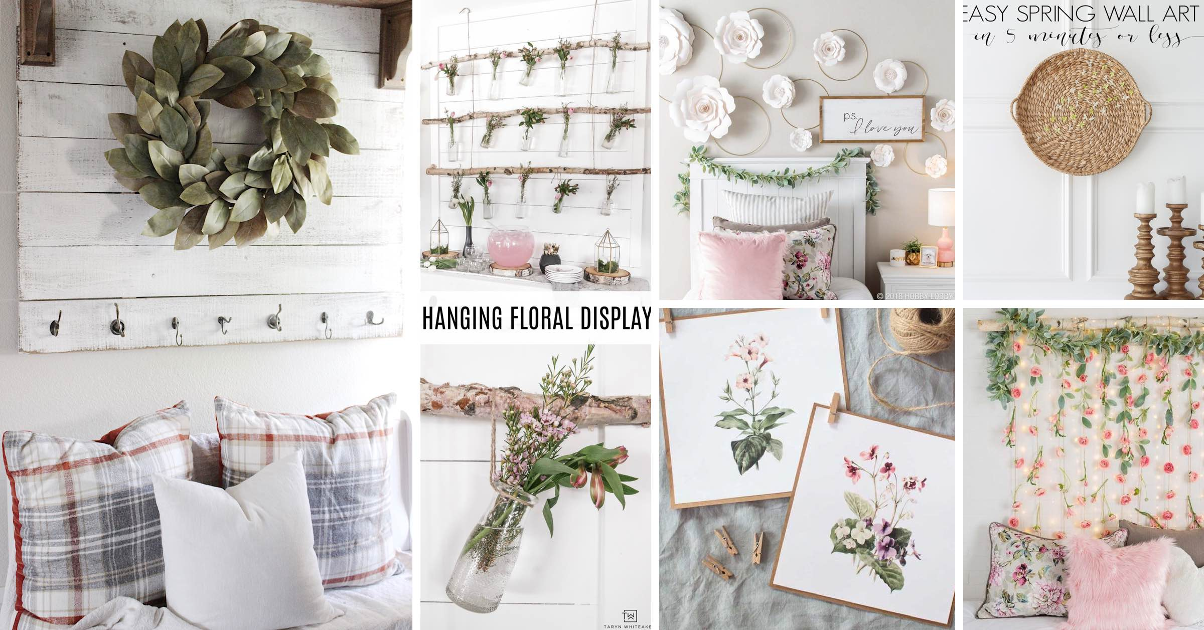 Gorgeous Spring Wall Decor Ideas Cover