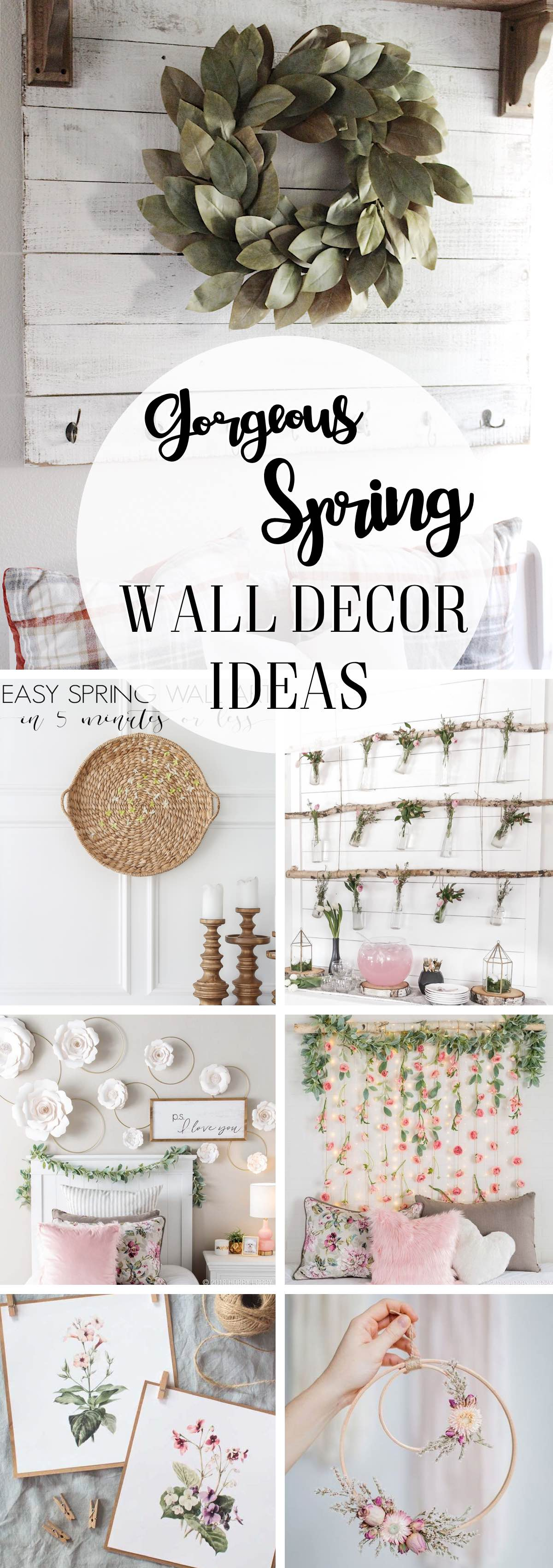 18 Gorgeous Spring Wall Decor Ideas All About the Magic of Blooms!