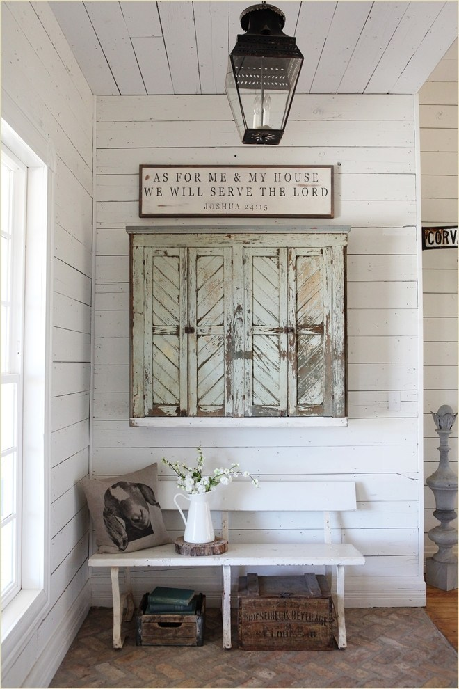 Repurposed Old Window Doors