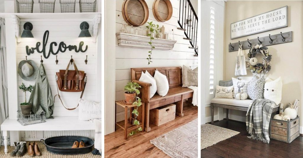 18 Entryway Farmhouse Decor Ideas That Are Beautiful and ... on a-frame design ideas, bed and breakfast design ideas, awesome pool design ideas, mediterranean design ideas, queen anne design ideas, mas design ideas, cape design ideas, ranch design ideas, windmill design ideas, bunkhouse design ideas, early american design ideas, yurt design ideas, houseboat design ideas, farm decorating ideas, springfield design ideas, homestead design ideas, houses design ideas, farm kitchen ideas, hut design ideas, lake design ideas,