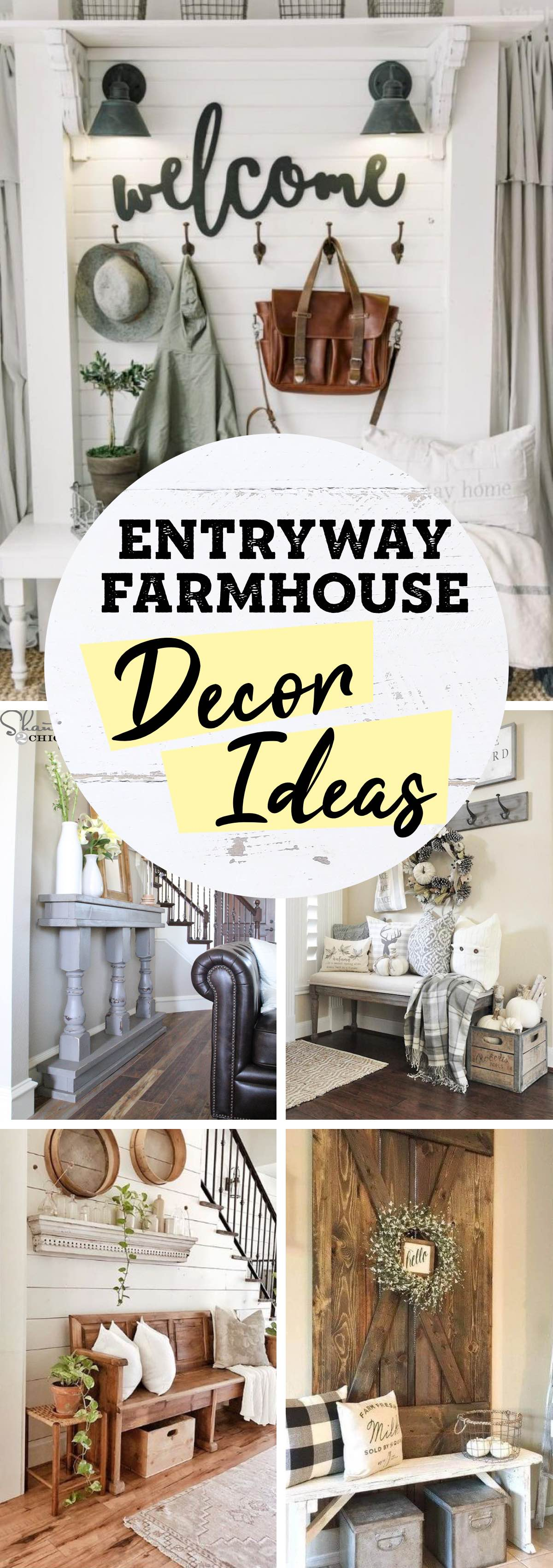 18 Entryway Farmhouse Decor Ideas That Are Beautiful and Functional at the Same Time!